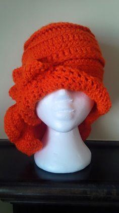 Bright yet elegant crochet hat Cloche Hat, Handmade Items, Handmade Gifts, No Frills, Beanie, Bright, Elegant, Trending Outfits, Crochet