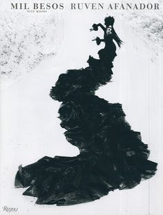 a portfolio of Ruven Afanador's work Mil Besos. A beautiful photography collection of flamenco dancers in Spain.