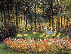 Claude Monet - The Artist's Family In The Garden