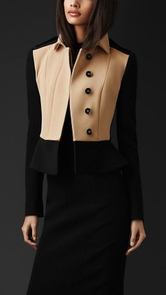 Burberry Prorsum Tailored Peplum Jacket