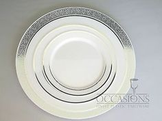 Wedding Disposable Plastic Plates Silverware with Masterpiece Coffee cups option