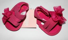 NWT Gymboree FAIRY FLORAL Pink Tulle Flower Crib Sandals Shoes - Choose Size | eBay