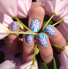 Pastel Union Jack Nail Art
