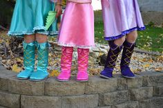 Make your own dress up boots