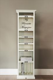 My Favorite Magazines Cabinet A great DIY idea to duplicate. Pantry Storage, Locker Storage, Cottage Office, Closet Drawers, Collor, Storage Solutions, Organization, Organizing, Sweet Home