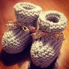 Lucette et Suzette: Passion tricot : les chaussons mignons + résultats du concours !