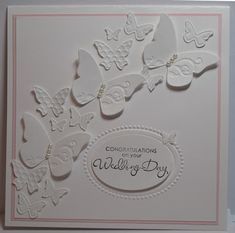 10/27/2011; Glenda Mollet at 'In My Craft Room' blog using SU products; White Butterfly Wedding Card