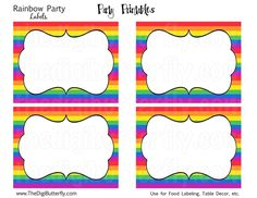 Free Printable Rainbow Labels