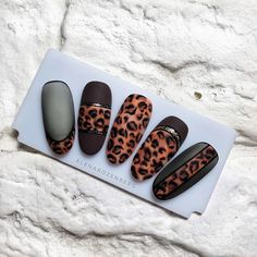 Elegant and Cute Acrylic Nail Designs, unique ideas for you to try in special day or event. Cute Acrylic Nail Designs, Cute Acrylic Nails, Gel Nail Art, Nail Art Designs, Leopard Nail Art, Leopard Print Nails, Love Nails, My Nails, Uñas Color Neon