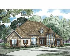 Eplans French Country House Plan - Amazing Street Appeal and Flexible Living Space - 3022 Square Feet and 4 Bedrooms from Eplans - House Plan Code HWEPL73369