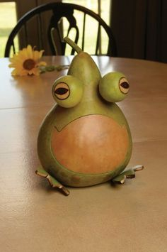 """2015 - Jesse is our new frog. He is light green with a natural belly. He's sure to make you smile. Jesse is approximately 5"""" in diameter."""