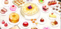 A table full of sweets