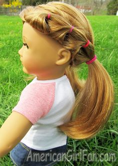 great for summer pull her hair back let . great for summer pull her hair back let it flow the time away Ag Doll Hairstyles, American Girl Hairstyles, Little Girl Hairstyles, American Girl Diy, American Girl Clothes, American Dolls, Baby Born Kleidung, Ag Hair Products, Hair Dos