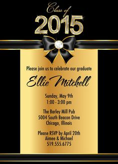 97 best graduation invitations images on pinterest graduation gold high school graduation party invitations college graduation announcement filmwisefo