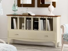 Contemporary Bookcase Cabinet Available in 28 Solid Wood Finishes