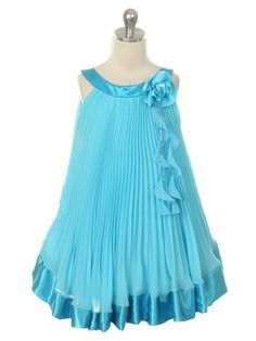 Girls Dresses, Flower Girl Dresses, Summer Dresses, Ropa Interior Babydoll, Dress Ideas, Chiffon, Satin, Turquoise, Fashion