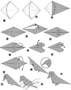 Corbeau en origami: