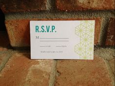 DIY Printable Wedding RSVP Cards Geometric by FiraPrintables