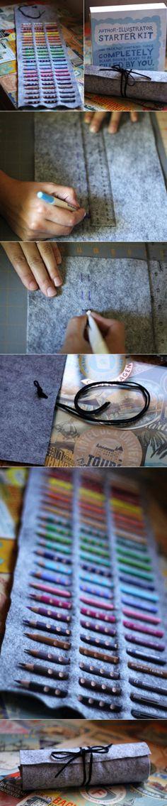 An easy way to keep art material order.... Una manera de mantener n orden los materiales d arte
