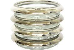 One Kings Lane - Vintage & Designer Picks - Leonara Silverplate Coasters, Set of 4 $ 55