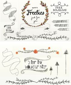 Flower Wreaths, Arrows and Branches: Free Download