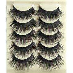 25Pairs Fake Eye Lashes Extensions Makeup Thick False Eyelashes For Women Cross Eyelash Long False Eyelashes Messy Stage Make Up