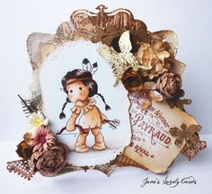 Jane's Lovely Cards : Magnolia Down Under Challenges DT - Flowers and Lace - stamps from magnoliastamps.us