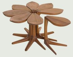 Loves Me Loves Me Not Side Table by Vogelcan you imagine a more romantic table than this? Loves me, loves me not... who didn't play that gam...