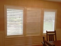 A Steilacoom client needed shutters to match her existing ones. They are a single panel frame instead of a split window that you would usually see in a home. They turned out beautiful!