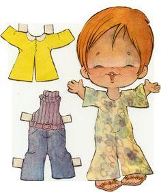(⑅ ॣ•͈ᴗ•͈ ॣ)                                                               ✄¡NOSTALGICOS!: Las muñecas Recortables