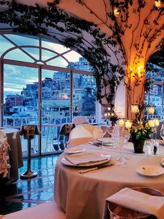 Restaurant La Sponda at Le Sirenuse, Positano, Italy Once a private summer home, this small, elegant hotel is the perfect place to enjoy Italy's scenic Amalfi Coast and the charming resort town. Italy Vacation, Italy Travel, Italy Trip, Italy Italy, Amalfi Coast Italy, Italy Honeymoon, Toscana Italy, Italy Tours, Lake Como Italy Hotels