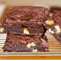 Vegan Brownies - made with brown rice flour