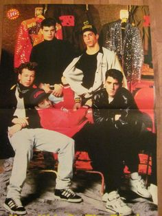 New Kids on the Block, Two Page Vintage Centerfold Poster