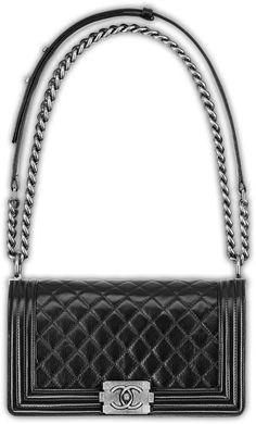 Chanel Bou Leather Bag Black