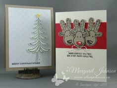 Santa's Sleigh and Cookie Cutter Christmas Stamp Images © Stampin' Up! Designs…