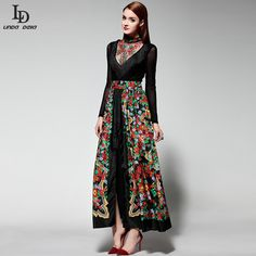 Runway Maxi Dress Women's Long Sleeve Elegant Party Rose Floral Print Long Dress Check it out! http://www.skaclothes.com/product/new-2016-fashion-runway-maxi-dress-high-quality-womens-long-sleeve-elegant-party-rose-floral-print-long-dress #shop #beauty #Woman's fashion #Products