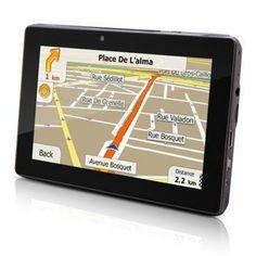 Navigationsgerät, Tablet und Fernseher in einem. Tablet, Calculator, Blog, Television Set, Blogging