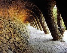 Gaudi, in Parc Guell, Barcelona. It's my dream to live in a place liek Parc Guell.