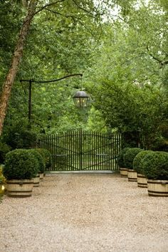 The gate itself is nothing special, but the overall look is wonderful.