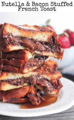 Nutella and Bacon Stuffed French Toast | 31 Life-Changing Ways To Eat French Toast.