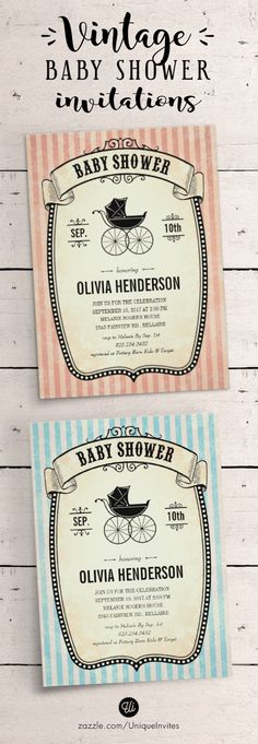 Victorian Vintage Baby Shower Invitations