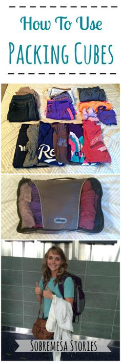 How To Use Packing Cubes To Pack Like A Pro - Sobremesa Stories I'm going to need these on our next trip! Packing For Europe, Suitcase Packing, Packing Tips For Travel, Travel Hacks, Travel Ideas, Backpacking Europe, Travelling Tips, Travel Essentials, Travel Guide