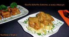 Kuchnia u Krysi : Kruche żeberka duszone, w sosie własnym