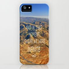 And in that moment, I swear we were infinite ∞. Aerial photo iPhone Case by Guido Montañés - $35.00