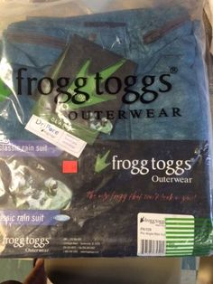 FROGG TOGGS OUTERWEAR PRO ANGLER BIBB ONLY   XLG BLUE NEW IN PACK #FROGGTOGGS