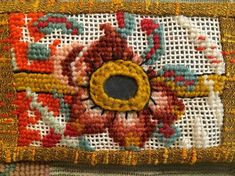 """Amy Meissner, Reliquary Series--vintage unfinished needlepoint. From the post """"Amateur."""" www.amymeissner.com/blog/amateur"""