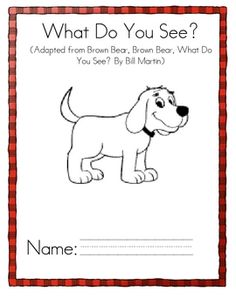 Free!!! Red Dog, Red Dog book...based on Brown Bear, Brown Bear..12 pages!