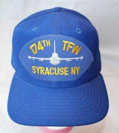 Snapback Hat, 174th TFW Syracuse NY, Made in USA #NewEra #BaseballCap