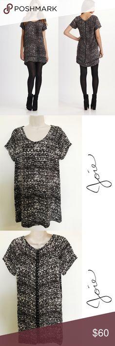 "Joie Sedgwick Printed Silk Tunic dress - XS Beautiful Joie Sedgwick Printed Silk tunic dress in excellent condition - size XS  Measurements: Bust: 34""  Length: 30"" Joie Dresses"
