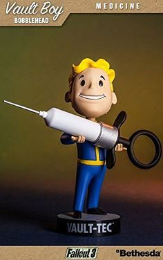 Gaming Heads is super excited to introduce the new series 3 of collectible Vault-Tec® Vault Boy Bobbleheads from Vault 101 in Fallout® 4! Introducing the commemorative bobblehead toy from Vault-Tec. B